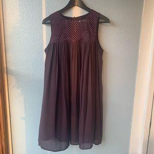 LOFT DRESS PURPLE SIZE M